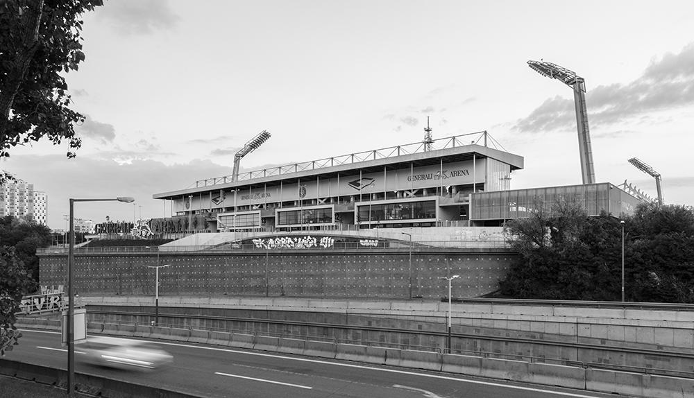 Architekturfotografie der Generali Arena von Beatrix Kovats, Fotografin in Wien